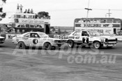 75178 -  Colin Bond, Torana SLR 5000 & Nick Louis, Mazda RX3  - Calder 1975 - Photographer Peter D'Abbs