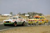 76130 - Wayne Renfrey, Alfa Romeo GTV & Jeremy Braithwaite, Escort RS2000  - Calder 1976 - Photographer Peter D'Abbs