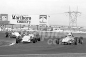 76159 - #50 Barry Ward, Birrana F72 & #10 Richard Carter, Birrana F73 Formula Ford - Calder 1976 - Photographer Peter D'Abbs