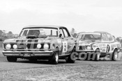 73231 - Allan Moffat, XY Falcon GTHO & Peter Brock, LJ Torana XU1 - ATCC Sandown 15th April 1973 - Photographer Peter D'Abbs