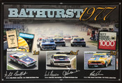 1977 Bathurst 1000 Poster- Signed by Four Drivers - $177.00