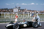 62602 - Jack Brabham, Cooper T53 Climax - Sandown 11th March 1962  - Photographer  Barry Kirkpatrick