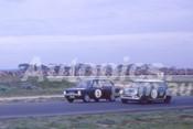 66101 - Norm Beechey, Hillman Imp & Allan King Morris Cooper - Calder 22nd May 1966 - Photographer Barry Kirkpatrick