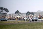 69370 - Bob Jane & Pete Geoghegan, Mustangs & Norm Beechey Holden HK Monaro - Calder 1969 - Photographer Barry Kirkpatrick