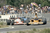 76672 - John Walker, Lola T332-Chev / Vern Schuppan, Elfin MR8-Chev / John Goss, Matich A53-Repco - Wanneroo 21st March 1976 - Photographer Tony Burton