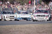 83406 - Peter Brock Commodore / Allan Moffat, Mazda RX-7 /  George Fury, Nissan Bluebird -  Australian Touring Car Championship -  Wanneroo 24th April 1983 - Photographer Tony Burton