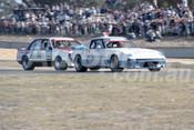 83408 - Allan Moffat, Mazda RX-7 / Peter Brock Commodore  -  Australian Touring Car Championship -  Wanneroo 24th April 1983 - Photographer Tony Burton