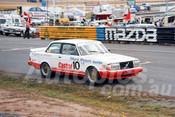 86087a - Robbie Francevlc, Volvo 240T  -  Symmons Plains 8th March 1986 - Photographer Keith Midgley