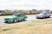 86102 - Dick Johnson, Mustang & John Harvey, Commodore -  Symmons Plains 8th March 1986 - Photographer Keith Midgley