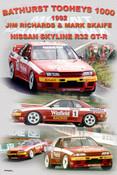 1172 - A collage of the 1992 Bathurst wining Nissan Skyline R32 GT-R
