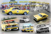 1176 - A collage of Norm Beechey's Holden HT Monaro GTS 350