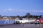 63062 - D. Algie, Falcon & M. Cock, Holden FX - Sandown 1963 - Barry Kirkpatrick Collection