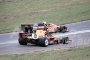 78655 - Chris Milton, Lola T332 & John Cannon, March 76B -  Tasman Series Oran Park 1989