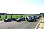 62522 - Start of the 1962 International - Sandown #1 Brabham Cooper / #10 B. McLaren Cooper / #3 J. Surtees Cooper / #5 C. Daigh Scarob