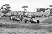 73511 - P. King and B. Prendergast both in Malmack Elfin Formula Vees, lead the pack at Calder 1973