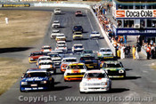 81019  - First Lap - Brock Commodore - Johnson - Muir Ford Falcon XD - Amaroo 1981