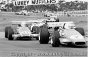 70546 - G. Cooper Elfin 600D / M. Ramsay - Elfin 600C / L. Geoghegan Lotus 59 - Sandown  1970