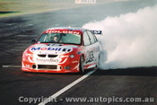 98002 - Craig Lowndes Smoking the HDT  Holden Commodore -  1998