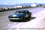 69058 - Bob Jane - Ford Mustang - Bathurst 1969  Slightly out of focus, but the only colour shot we have of the blue Mustang