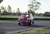 65048 - Brian Foley -  Morris Cooper  S  -  Warwick Farm 1965 - Photographer Lance Ruting