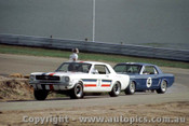 65058 - Pete  Geoghegan & Norm Beechey  - Ford Mustang - Lakeside 1965 - Photographer John Stanley