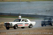 65059 - Pete  Geoghegan & Norm Beechey  - Ford Mustang - Lakeside 1965 - Photographer John Stanley