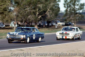 66034 - Norm Beechey Chev Nova  / Ian  Pete  Geoghegan Ford Mustang  - Surfers Paradise  1966 - Photographer John Stanley