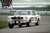66036 - Ian  Pete  Geoghegan Ford Mustang - Lakeside  1966 - Photographer John Stanley