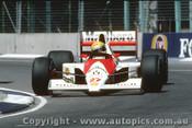 90506 - Ayrton Senna - McLaren Honda - Australian Grand Prix Adelaide 1990