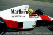 90509 - Ayrton Senna - McLaren Honda - Australian Grand Prix Adelaide 1990