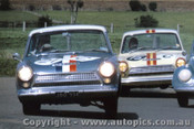 64729  - I. Geoghegan / L. Geoghegan and  R.Jane / G.  Reynolds  - Ford Cortina GT -  Bathurst 1964