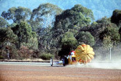 65912 - Eddie Thomas S/C Chrysler Dragster - NSW Drag Champoinships Castlereagh June 1965 - Photographer Richard Austin