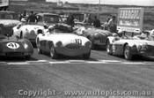 57411 - #41 Jolly DeccaSpecial MK.2 - #10 J. Roxburgh Austin Healey 100S - #23 Coad Vauxhall Special - #11 Elkins Triumph TR3 - #8 Norway Jaguar XK 140 -  Phillip Island 26th December 1957