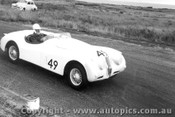57414 - J. Roxburgh Austin Healey 100S -  Phillip Island 22nd April 1957