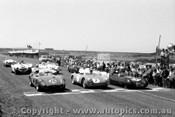 58427 - #26 Whiteford Maserati 300s - #7 Tadgell Porsche Spider #47 Swanton Lotus XI - #62 J. Cleary Austin Healey 100S -  Phillip Island 26th Dec. 1958