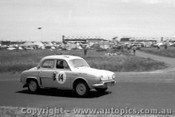 60709 - J. Leighton / A. Ling - Renault Dauphine  Armstrong 500 Phillip Island 1960
