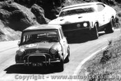 73734  -  C. Audsley / Bob Williamson Morris Cooper s - A. Moffat / I. Geoghegan  -  Ford Falcon GT - Bathurst 1973 -