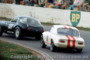 67474 - I. Johnson Milano GT / B. Fitz Lotus Elan - Oran Park 5/3/1967 - Photographer Richard Austin