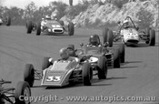 75507 - G. Burgess Bowin P6F/ P. Granger Bowin /  G. Peart Wren / G. Murphy Elfin - Formula Ford - Amaroo Park 17/8/1975