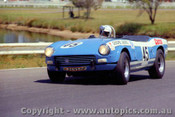 71429 - British Leyland Works Team - Graeme Laurie Triumph Spitfire III -  Warwick Farm 16th October 1971 - Photographer Jeff Nield