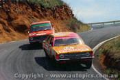 71793 - G. Westbury / J. Sullivan Ford Cortina 2000L & J. Lang-Peach Datsun 1200 -  Bathurst  1971 - Photographer Jeff Nield