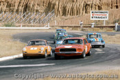 69074 - Jane Ford Mustang - Hamilton Porsche - McKeown Lotus Cortina - Manton - Manticas - Leffler Morris Cooper S  - Hume Weir 28th December 1969 - Photographer Jeff Nield