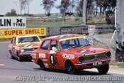 70763 - M. Stewrat / R. Young  Toyota Corolla 1200 & J. Roxburgh Datsun 1200 -   Bathurst  1970 - Photographer Jeff Nield