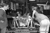 67558 - Installing the Repco engine into John Harvey s BT14 -  April 1967