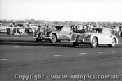 57418 - #64 W. Leech / #65 J. Leech Jaguar XK 140 - Fishermen s Bend 16th June 1957