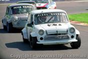 92023 - Nigel Hughan & Peter Wilson Morris Mini - Oran Park  5th May 1992