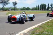 71447 - Ray Kaleda & Peter Lander Lotus Super 7 Ford  -  Warwick Farm 17th October 1971