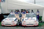 86761  - Peter Brock &  John  Harvey  -  Bathurst 1986 - Commodore VK - Photographer Peter Green