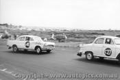 61717 - C. Smith / B. Maher / J. Gray  Morris Major and  F. Coad / J. Roxburgh Vauxhall Velox  - Armstrong 500 Phillip Island 1961