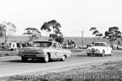62010 - Norm Beechey  Chev Impala and Bob Jane  Jaguar - Calder 9th September 1962